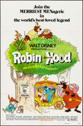 """Movie Posters:Animation, Robin Hood (Buena Vista, 1973/R-1982). One Sheet (27"""" X 41"""") & Lobby Card Set of 8 (11"""" X 14""""). Animation.. ... (Total: 9 Items)"""