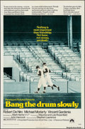 """Movie Posters:Sports, Bang the Drum Slowly (Paramount, 1973). One Sheet (27"""" X 41""""), Lobby Card Set of 8 (11"""" X 14"""") & Uncut Pressbook (4 Pages, 1... (Total: 10 Items)"""