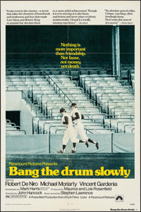 "Bang the Drum Slowly (Paramount, 1973). One Sheet (27"" X 41""), Lobby Card Set of 8 (11"" X 14"") &..."