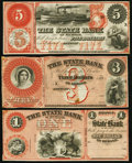 Obsoletes By State:Michigan, MI - Lot of 3 State Bank of Michigan, Detroit Lyman's Protection Remainder Notes.. ... (Total: 3 notes)