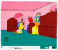 "Animation Art:Production Cel, The Simpsons ""Grift of the Magi"" Bart and MillhouseProduction Cel (Fox, 1999)...."