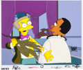 "Animation Art:Production Cel, The Simpsons ""Blood Feud"" Mr. Smithers and Dr. HibbertProduction Cel (Fox, 1991)...."