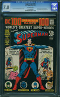 Bronze Age (1970-1979):Superhero, Superman #245 (DC, 1972) CGC FN/VF 7.0 Off-white pages.