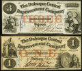 Obsoletes By State:Iowa, IA - Lot of 2 Dubuque Central Improvement Co. Notes.. ... (Total: 2notes)