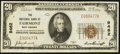 National Bank Notes:West Virginia, Fairmont, WV - $20 1929 Ty. 1 The NB of Fairmont Ch. # 9462. ...