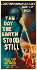 """Movie Posters:Science Fiction, The Day the Earth Stood Still (20th Century Fox, 1951). Three Sheet (41"""" X 79"""").. ..."""