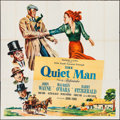 "Movie Posters:Drama, The Quiet Man (Republic, 1952). Six Sheet (80"" X 80""). Drama.. ..."