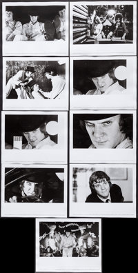 """A Clockwork Orange (Warner Brothers, 1971). Photos (9) (8"""" X 10""""). Science Fiction. ... (Total: 9 Items)"""