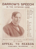 Political:Posters & Broadsides (1896-present), Clarence Darrow: 1907 Appeal to Reason Poster....