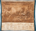 Political:Textile Display (pre-1896), Declaration of Independence: Circa 1850 Textile....