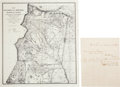 Miscellaneous:Maps, [Lincoln County War]: Peter Maxwell Autograph Letter Signed andMap.... (Total: 2 Items)