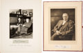 Autographs:Celebrities, Clarence Darrow: Pair of Photographs and Signatures.... (Total: 3Items)