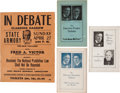 Political:Posters & Broadsides (1896-present), Clarence Darrow: 1924 Prohibition Debate Poster and More. ... (Total: 4 Items)