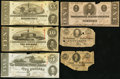 Confederate Notes:Group Lots, CSA - Lot of 6 Confederate Notes with Faults.. ... (Total: 6 notes)