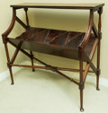 Furniture , A Regency-Style Mahogany Bookstand, early 20th century. 33 h x 35 w x 15 d inches (83.8 x 88.9 x 38.1 cm). ...