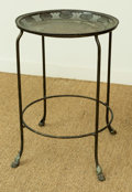 Asian, A Chinese Two-Tier Bronze Side Table with Zodiac Motif. 25-1/2 h x17-3/4 di inches (64.8 x 45.1 cm). ...