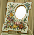 Decorative Arts, Continental, An Italian Micro-Mosaic Table Mirror with Floral Motif, late 19thcentury. 22-3/4 inches high x 18-1/4 inches wide (57.8 x 4...