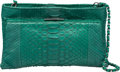 "Luxury Accessories:Bags, Devi Kroell Green Python Shoulder Bag . Excellent Condition.8.5"" Width x 6"" Height x 2"" Depth. ..."