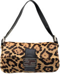 "Luxury Accessories:Bags, Fendi Leopard Ponyhair Baguette Bag. Very Good to ExcellentCondition. 10"" Width x 5.5"" Height x 1.5"" Depth. ..."