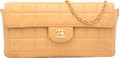 "Luxury Accessories:Bags, Chanel Beige Square Quilted Lambskin Leather Flap Bag. Good toVery Good Condition. 10"" Width x 5"" Height x 1.5""Depth..."