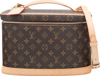"Louis Vuitton Classic Monogram Canvas Vanity Case Very Good Condition 12"" Width x 7"" Height x 9.5"