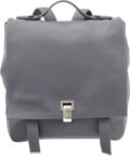 "Luxury Accessories:Bags, Proenza Schouler Gray Leather PS Courier Backpack Bag. Excellentto Pristine Condition. 11"" Width x 12"" Height x 6"" De..."