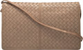 "Luxury Accessories:Bags, Bottega Veneta Taupe Intrecciato Nappa Leather Clutch Bag. VeryGood Condition. 11.5"" Width x 7"" Height x 1"" Depth. ..."