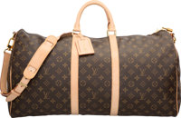 "Louis Vuitton Classic Monogram Canvas Keepall 55 Bandouliere Bag Very Good Condition 21"" Width x"