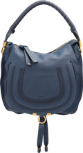 "Luxury Accessories:Bags, Chloe Navy Leather Marcie Shoulder Bag . Excellent to PristineCondition. 13.5"" Width x 12.5"" Height x 4"" Depth. ..."