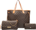 Luxury Accessories:Bags, Louis Vuitton Set of Three; Classic Monogram Canvas Neverfull GM Tote Bag, Favorite PM Bag, & Sarah Wallet. Good Condition... (Total: 3 Items)