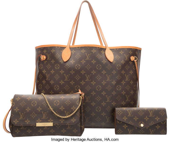 3112f346ae13 Louis Vuitton Set of Three  Classic Monogram Canvas Neverfull