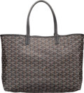 "Art Glass:Daum, Goyard Black Goyardine Canvas St. Louis PM Tote Bag. Excellentto Pristine Condition. 13"" Width x 10"" Height x 5.5""D..."