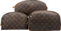 "Luxury Accessories:Accessories, Louis Vuitton Set of Three; Classic Monogram Canvas Toiletry Cases.Very Good Condition. 11"" Width x 6"" Height x 6.5"" Dept...(Total: 3 Items)"