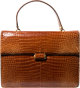 "Gucci Shiny Brown Crocodile Top Handle Bag Very Good Condition 12"" Width x 9"" Height x 2"" Depth This bag..."