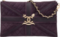 "Luxury Accessories:Bags, Chanel Limited Edition Paris-London Purple Suede Union Jack ClutchBag. Excellent Condition. 10.5"" Width x 6.5""Height..."
