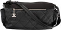 "Luxury Accessories:Bags, Chanel Black Quilted Coated Nylon Canvas Shoulder Bag . VeryGood Condition. 15"" Width x 7"" Height x 7"" Depth. ..."