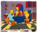 Animation Art:Production Cel, The Simpsons Entire Family Production Cel Setup (Fox,1990)....