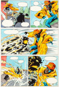 Original Comic Art:Miscellaneous, Static, Blood Syndicate, and Long Hot SummerProduction Color Art Original Art Group of 5 (DC/... (Total: 5Original Art)
