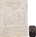 Miscellaneous:Ephemera, African Americana: Post-Civil War Oath of Allegiance for Texas Freedman.... (Total: 3 Items)