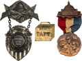 Political:Pinback Buttons (1896-present), Theodore Roosevelt and William Howard Taft: Badges and Fob.... (Total: 3 Items)