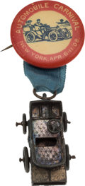 Transportation:Automotive, Petroliana: Early Automobile Novelty Button....