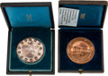 Miscellaneous:Ephemera, Tiffany & Company: Pair of Medals in Original Boxes.... (Total:2 Items)