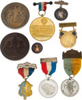 Miscellaneous:Ephemera, Expositions: Assorted 19th Century Badges and Medals.... (Total: 9Items)