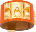 Luxury Accessories:Accessories, Hermes Orange H Epsom Leather Collier de Chien Bracelet with GoldHardware. R Square, 2014. Pristine Condition.1....