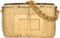 "Luxury Accessories:Bags, Tom Ford Metallic Gold Python Natalia Bag. PristineCondition. 9.5"" Width x 6"" Height x 2.25"" Depth. ..."