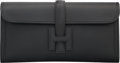 "Luxury Accessories:Bags, Hermes Black Swift Leather Jige Elan Clutch Bag. X, 2016.Pristine Condition. 11"" Width x 5.5"" Height x 1""Depth..."