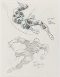Original Comic Art:Illustrations, John Romita Sr. and John Romita Jr. - Daredevil Illustration Original Art (1992)....