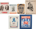 Political:Posters & Broadsides (1896-present), Franklin D. Roosevelt: Six Campaign Posters....