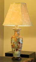 Asian:Japanese, A Japanese Satsuma Vase Mounted as a Table Lamp, mid-20th century.32 inches high (81.3 cm). ...