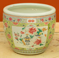 Paintings, A Chinese Porcelain Jardinière. 13-3/4 inches high x 16 inches diameter (34.9 x 40.6 cm). ...